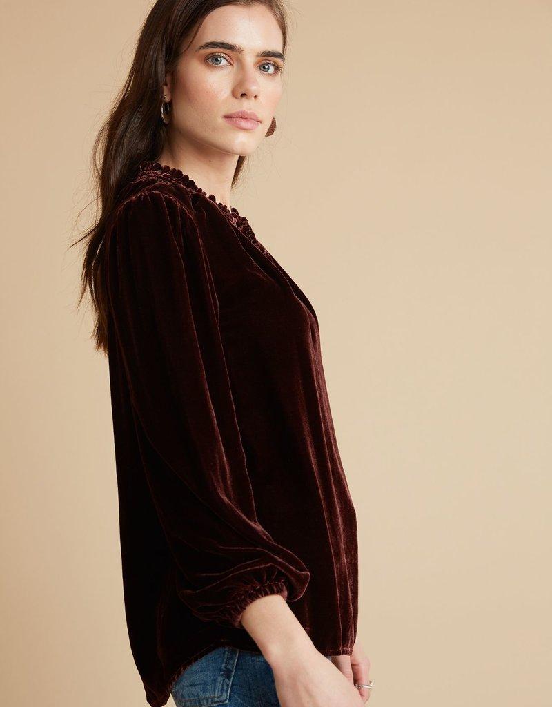 Bella Dahl Smocked Neck Pullover Velvet