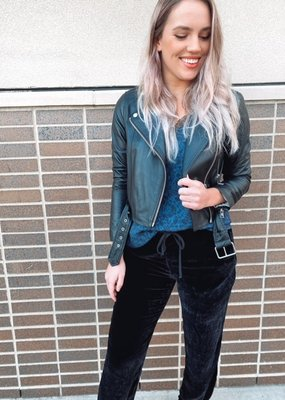 Soia and Kyo Clodia Leather Moto Jacket