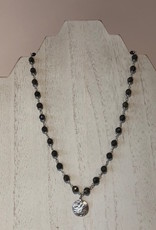 BlacKnot Jewellery Facetted Pyrite Coin Necklace