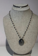 BlacKnot Jewellery Facetted Black Pyrite Necklace