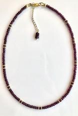 BlacKnot Jewellery Short Garnet Necklace