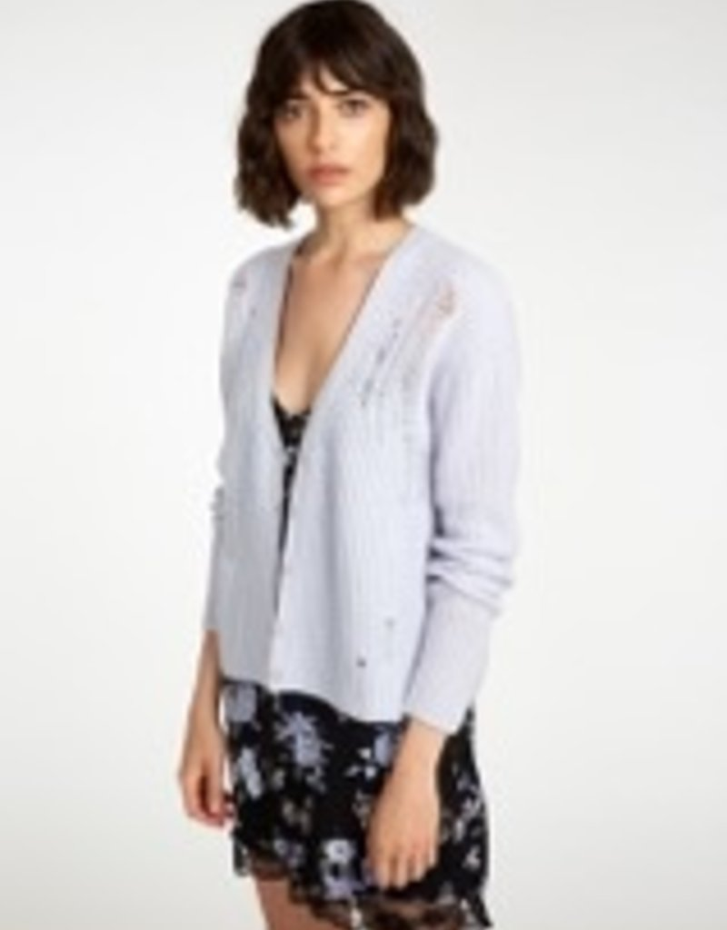 Autumn Cashmere Distressed Button Up Cardi