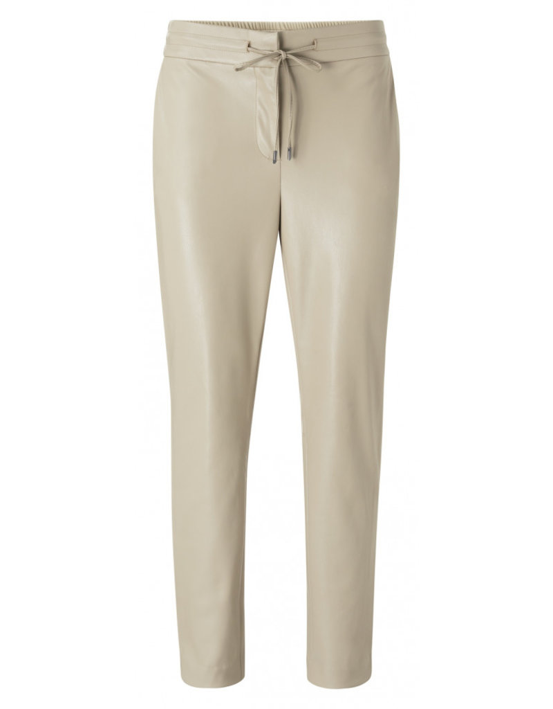 Yaya Faux Leather Jogger Trouser