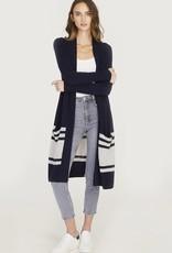 Autumn Cashmere Stripe Open Cardi