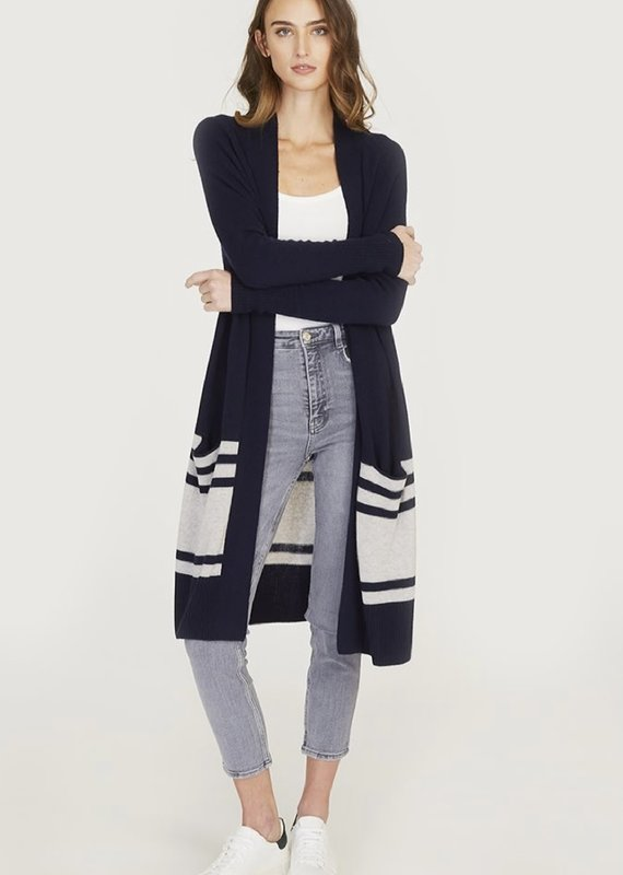 Autumn Cashmere Stripe Open Cardi