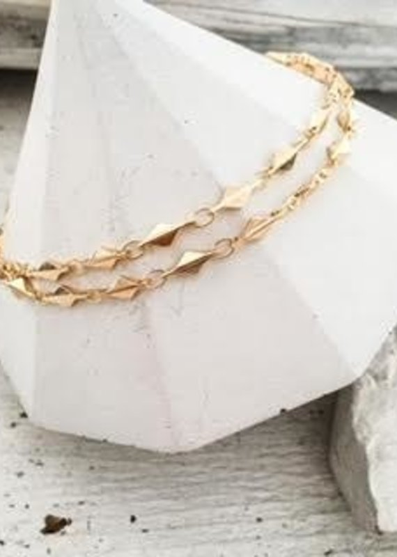 DBL Designs Rhombus Chain Choker Necklace
