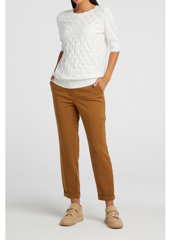 Yaya Short Sleeve Mix Textured Sweater