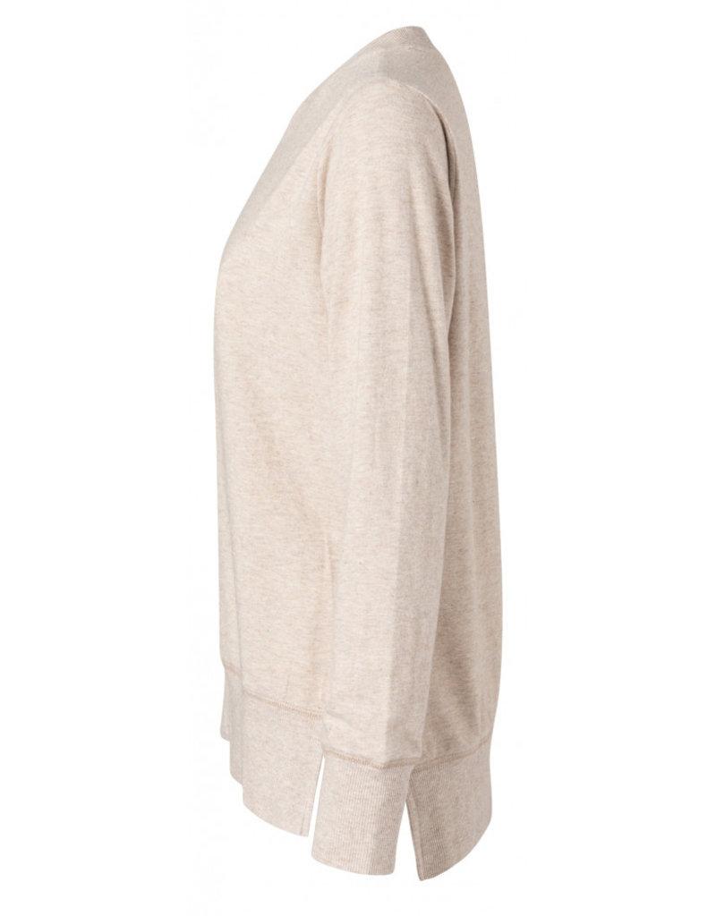 Yaya Brushed Side Slit Sweater