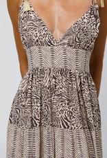 Beach Gold Lenny Maxi Dress