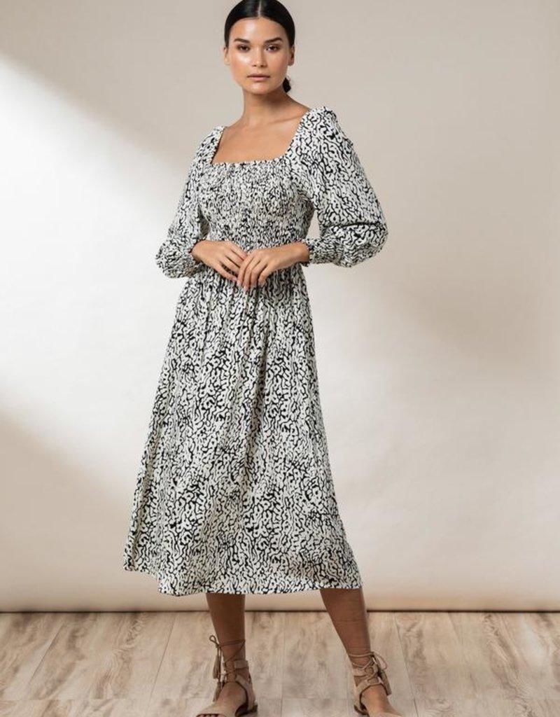 Beach Gold Elyse Midi Dress