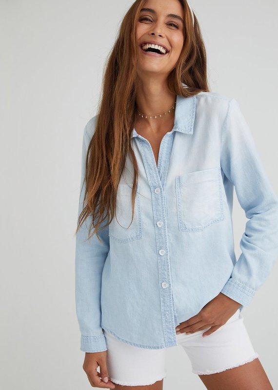 Bella Dahl Roll Sleeve Chambray Shirt