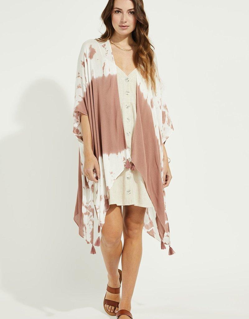 Gentle Fawn Heron Kimono