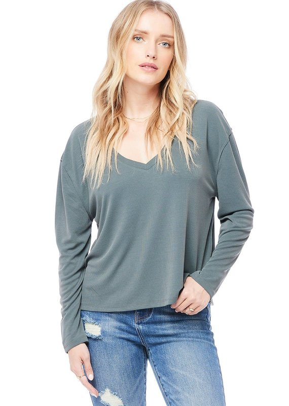 Saltwater Luxe V Neck Long Sleeve