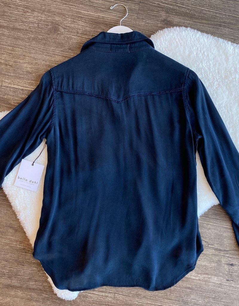 Bella Dahl Seamed Pocket Stain Shirt