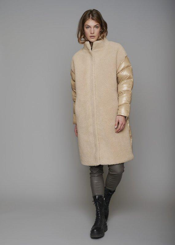 Rino & Pelle Alec Mixed Puffer + Sherpa Coat