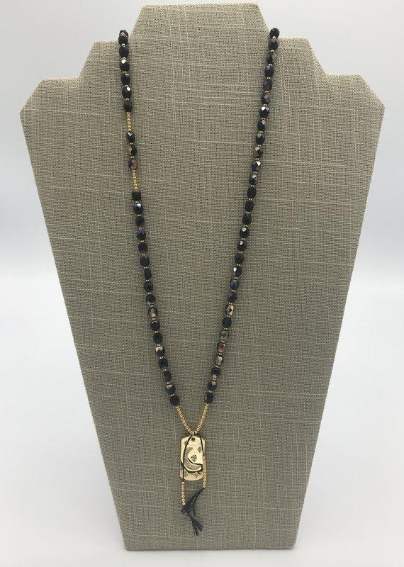 Studio III.XX Crystal Mala Moon Necklace