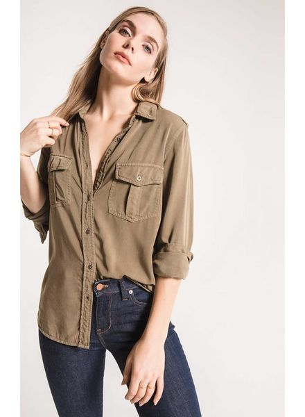 Rag Poets Rag Poets Myra Button-Up Top