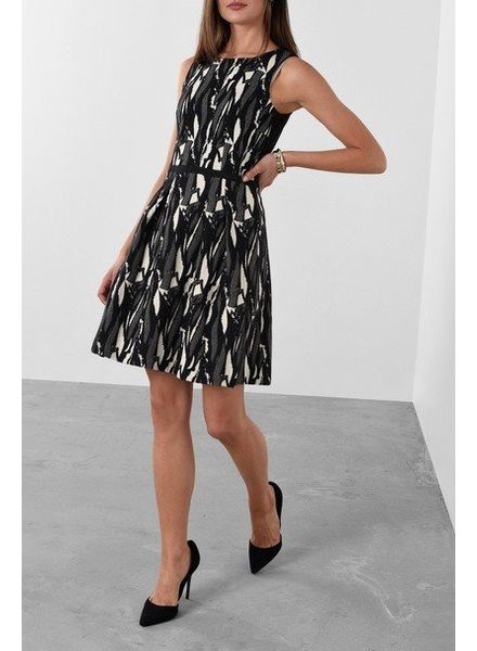 Esprit Fitted Jacquard Dress