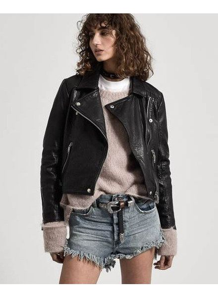 One Teaspoon SUP Textured Leather Jacket