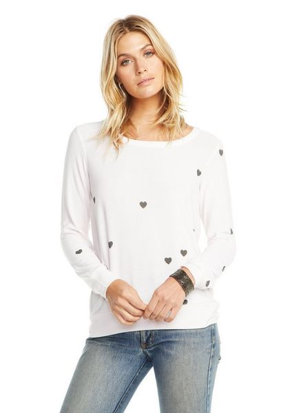 Chaser Tiny Hearts Cozy Knit Pullover