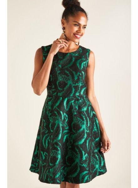 Yumi Yumi Burnout Floral Jacquard Dress