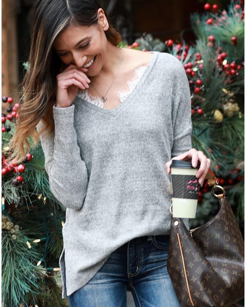 Grace & Lace Grace & Lace Snow Day Sweater