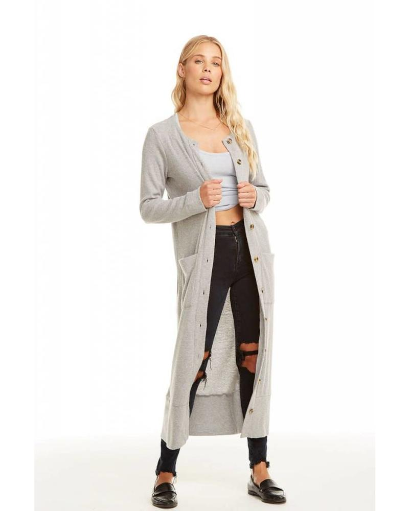Chaser Love Rib Button Front Duster
