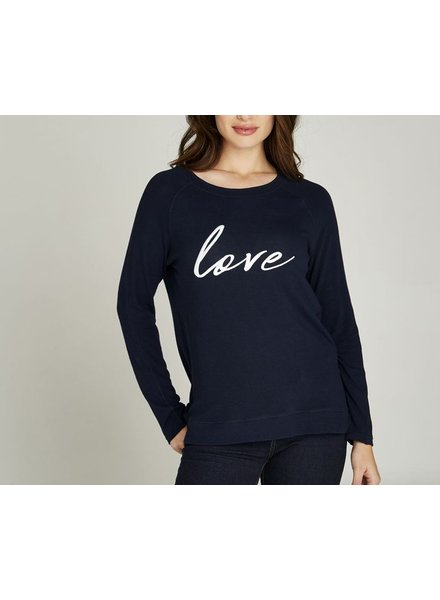 Apricot Apricot Embroidered Love Knit Top
