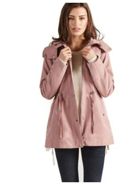 Apricot Apricot Hooded Drawstring Jacket