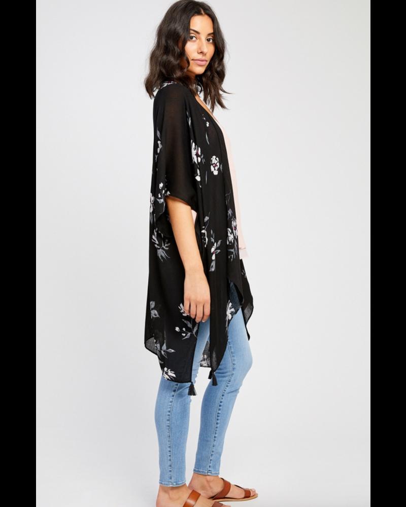 GENTLE FAWN Gentle Fawn Heron Kimono Scarf O/S Black La Casa