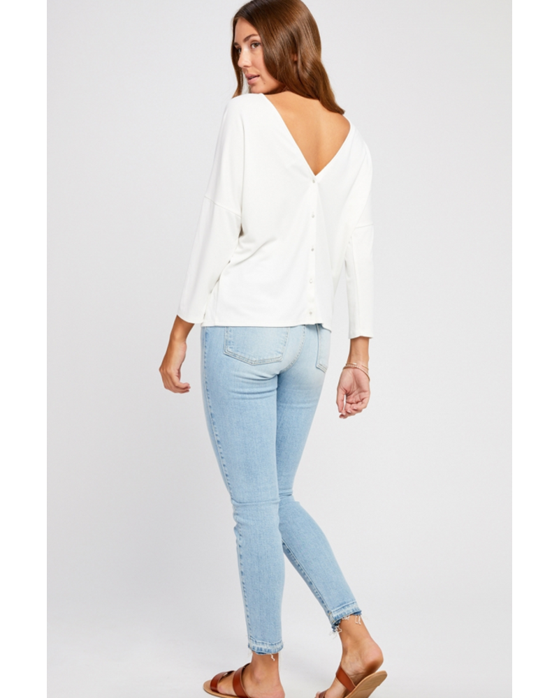 GENTLE FAWN Gentle Fawn Jessamine Button Back Top