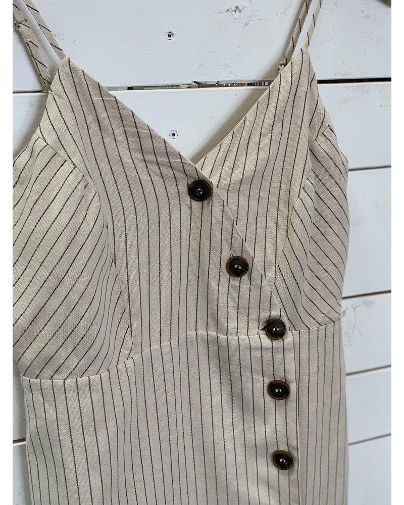Mystree Mystree Midi Stripe Dress