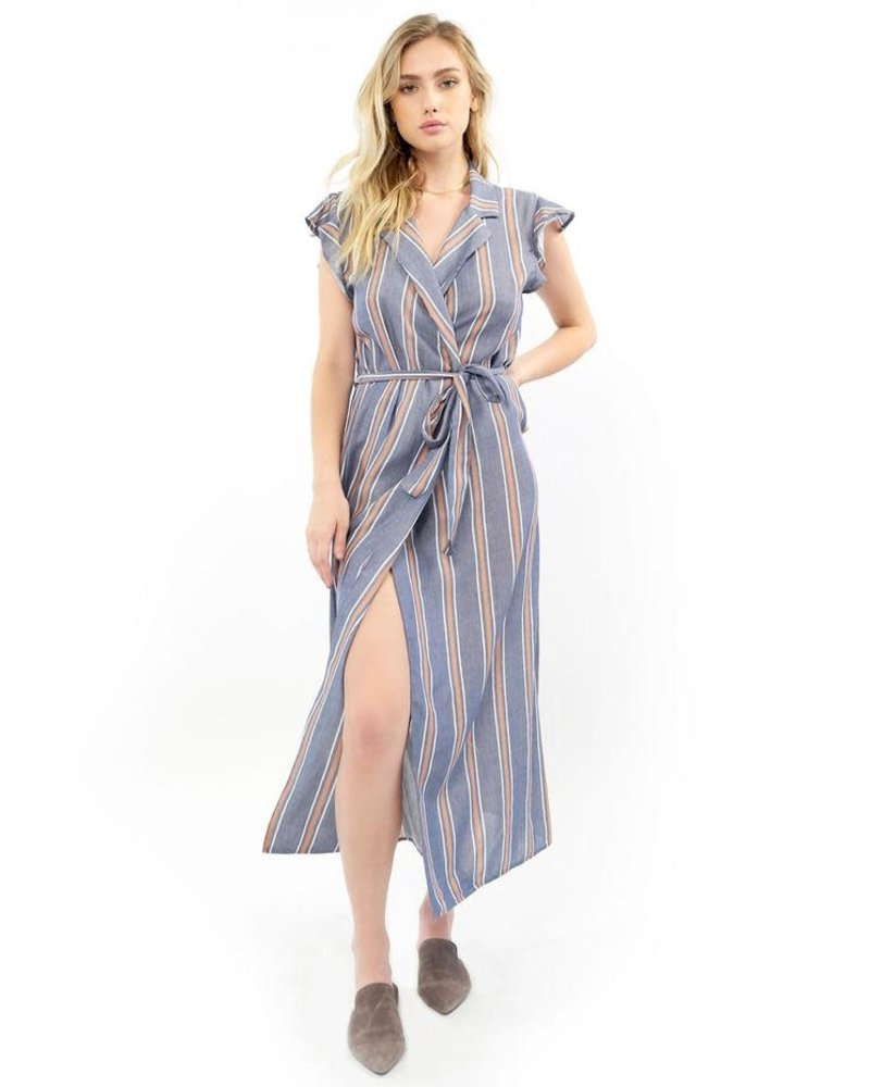 Saltwater Luxe Reese Stripe Maxi Wrap Dress