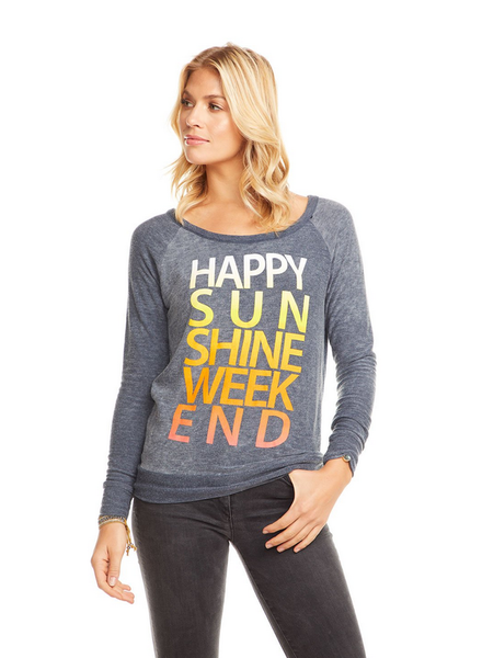Happy Sunshine Weekend Cozy Knit