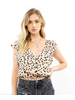 Saltwater Luxe Harlow Ruffle Sleeve Button Blouse