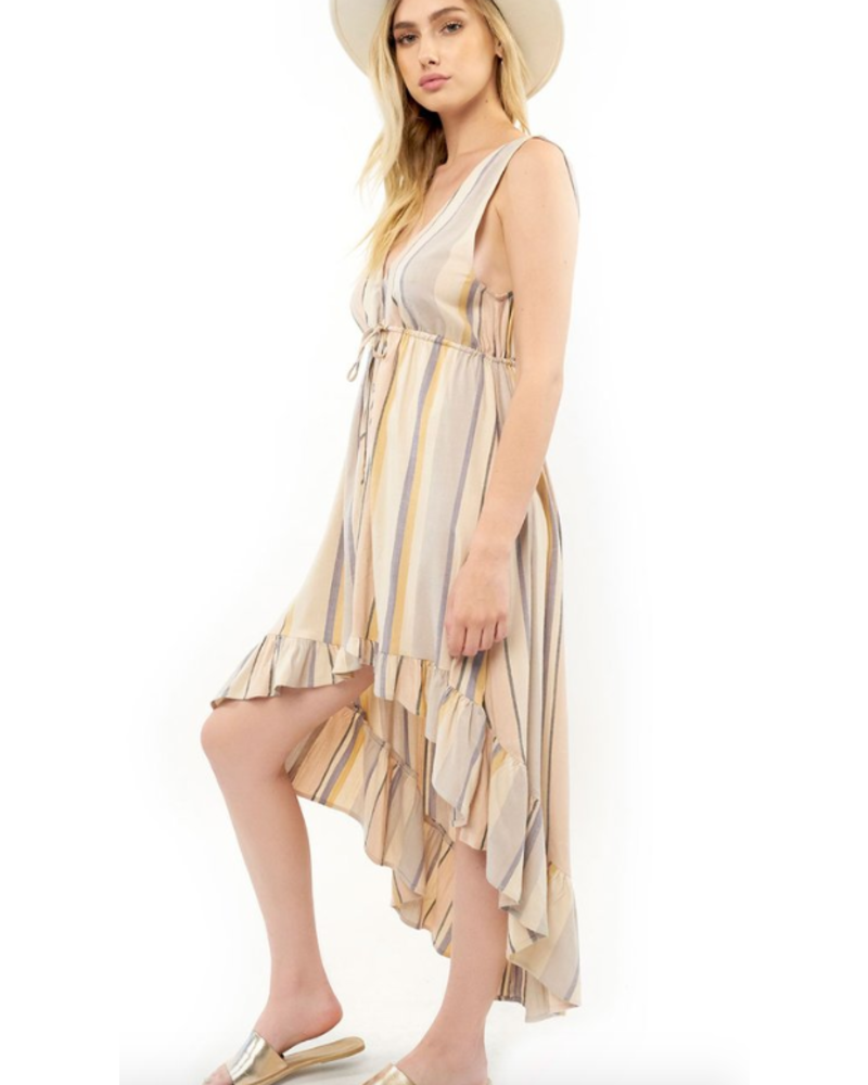 Saltwater Luxe Lovestoned Ruffle Hem Maxi Dress