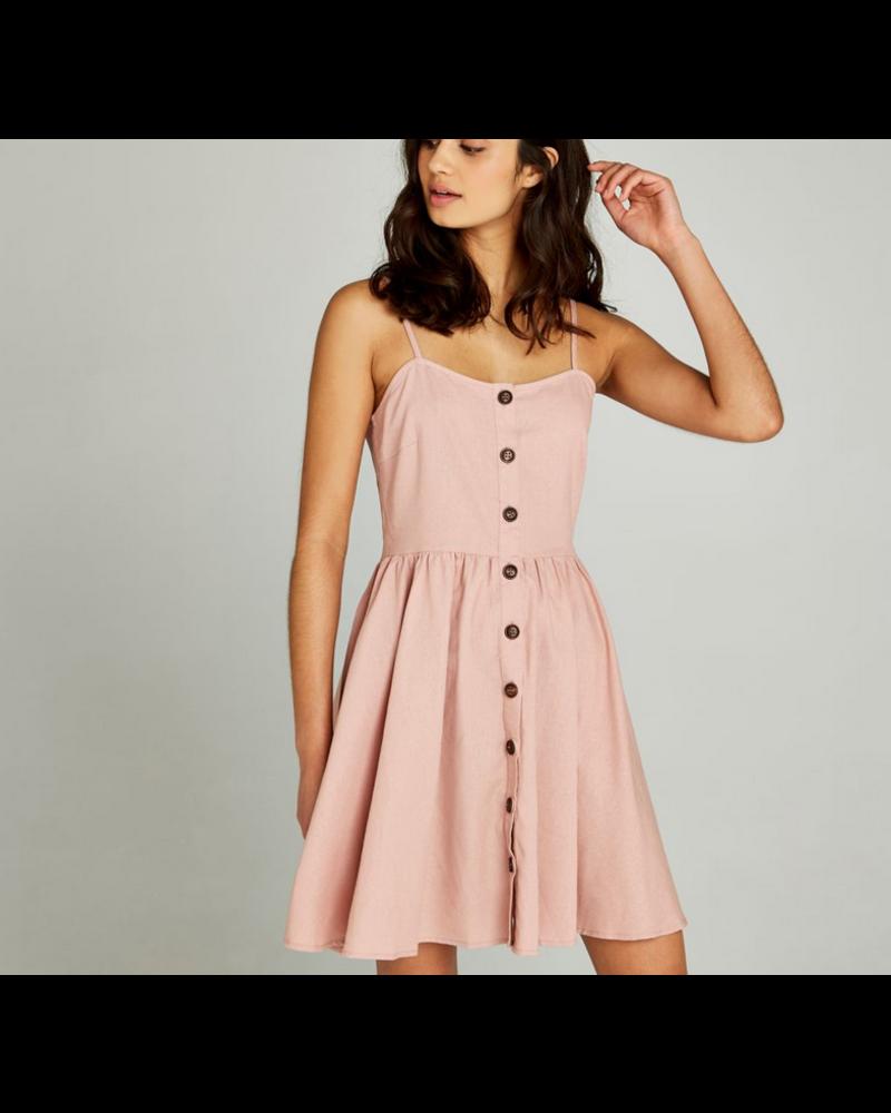 Apricot Button Down Cami Dress