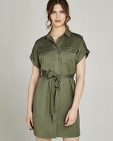 Apricot Utility Button Down Dress