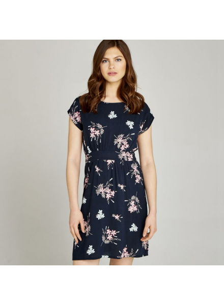 Apricot Posy Bunches Tie Back Dress