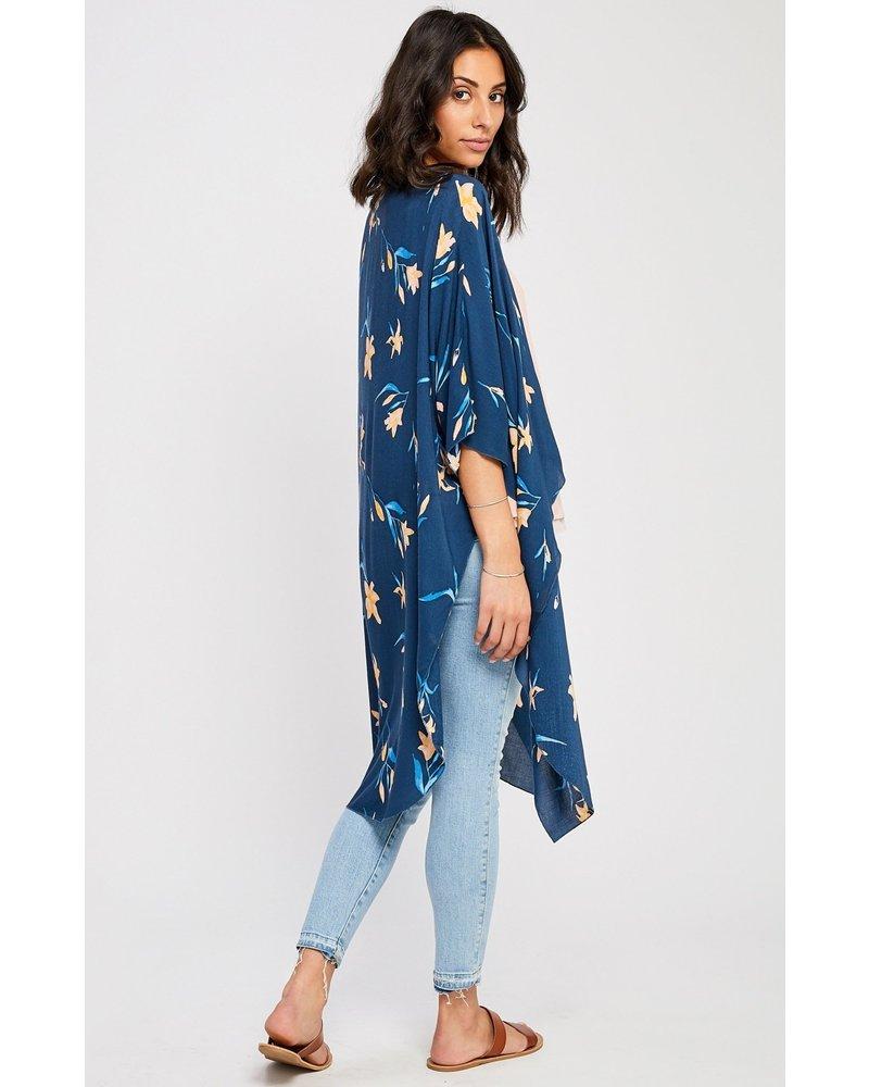 GENTLE FAWN Hailee Kimono O/S Falling Floral