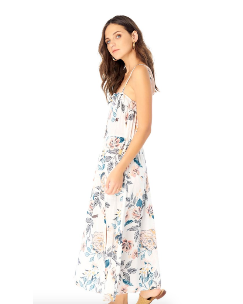 Saltwater Luxe Paisley Floral Maxi Dress With Ruffle