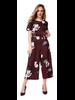 Dex Short Sleeve Floral Belted Jumpsuit