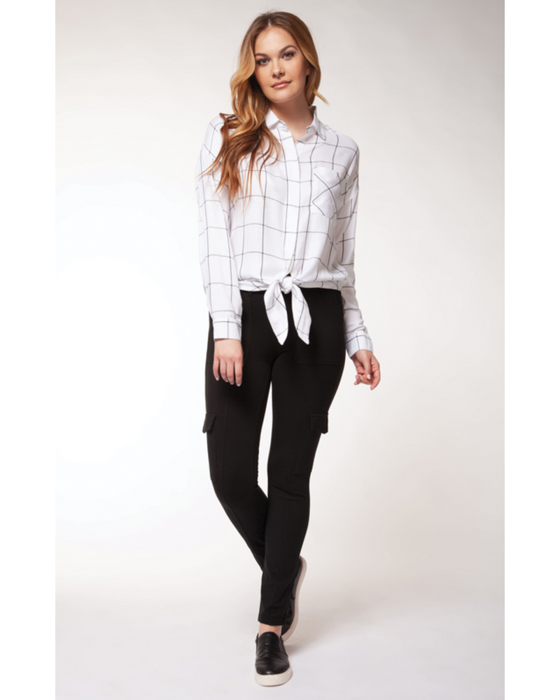 Dex Knotted Hem Blouse