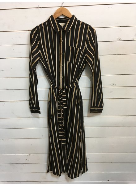 Mystree Shirt Dress With Side Splits