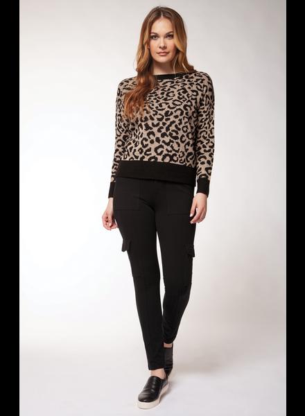 Dex Scoop Neck Leopard Sweater