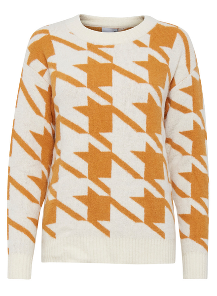 ICHI Ihgenner Abstract Sweater