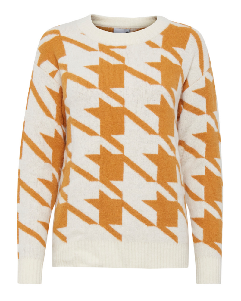 ICHI Ihgenner Abstract Sweater