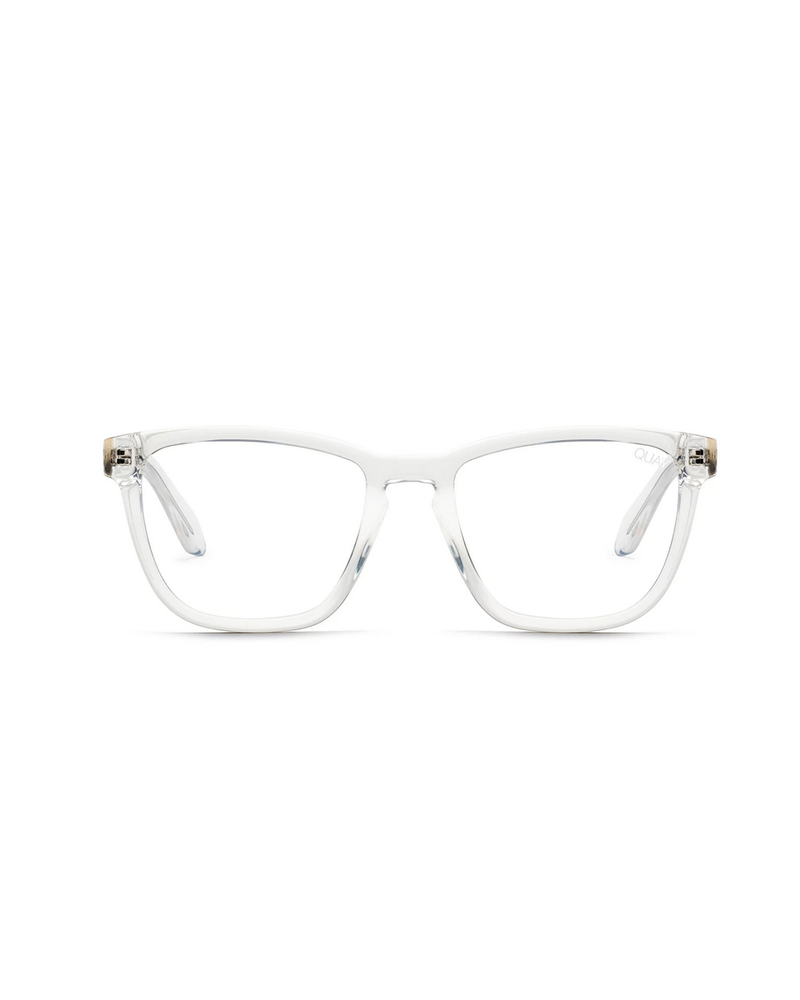 QUAY AUSTRALIA Bluelight Hardwire Glasses Clear