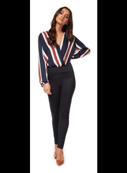 Dex V-Neck Blouse Bodysuit