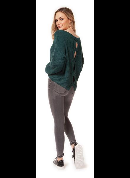 Dex Sweater With Split Back Detail